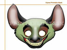 unique hyena printable mask costumes party booth props