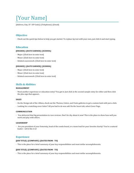 Functional Resume Template Word by Microsoft Office 365 Sle Resume Templates May 2013