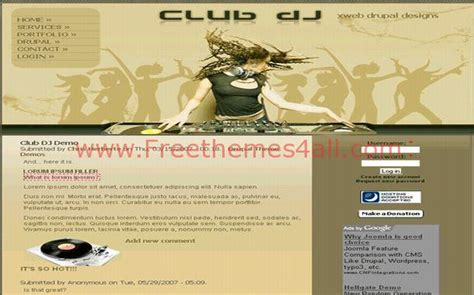 drupal theme links system main menu sexy music dj drupal theme free download