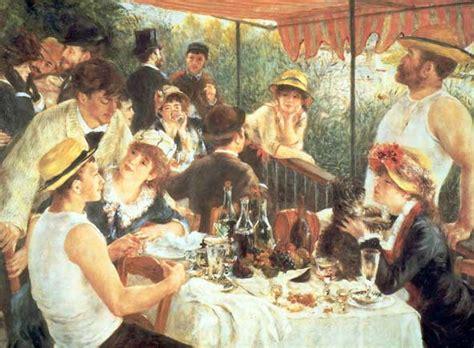 interpretation of luncheon of the boating party la colazione dei canottieri renoir