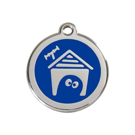 blue dog house red dingo enamel tag dog house dark blue 01 dh db 1dhns