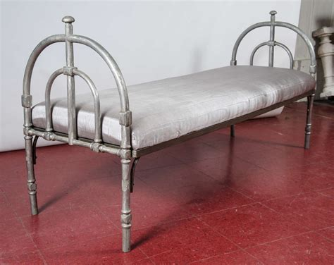 metal upholstered bench metal upholstered bench for sale at 1stdibs
