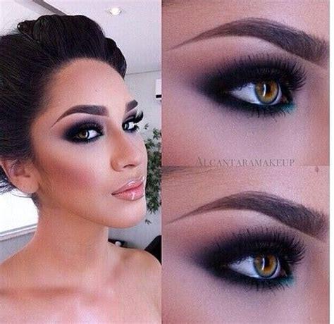 bold beautiful black smokey eyes makeup tutorial step