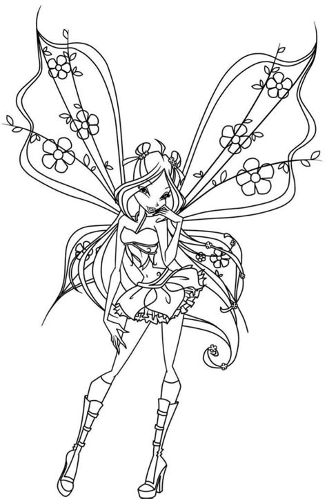 detail goth fairy coloring page coloring pages