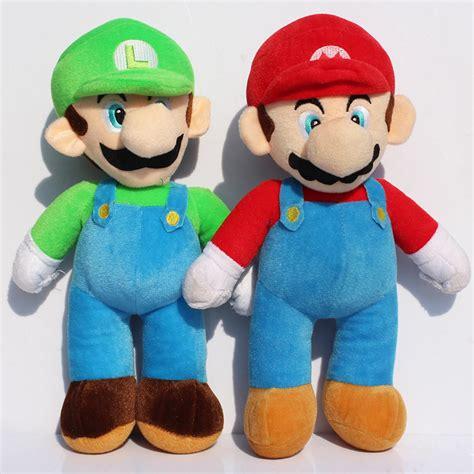 Boneka Mario Bros Luigi Big Size 40cm High Quality Terbaru aliexpress buy 40cm high quality mario bros mario luigi stuffed plush dolls soft