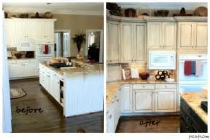 Before And After Pictures Of Kitchen Cabinets Painted Painted Kitchen Cabinets Before And After