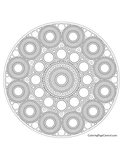 fabulous mandala circle coloring page with circle coloring