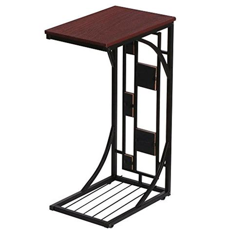 side sofa snack table yaheetech living room sofa side end snack table tray stand