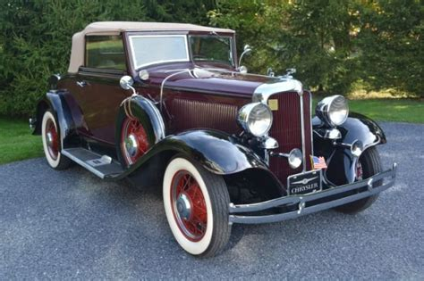 1932 Chrysler Coupe by 1932 Chrysler Cl Convertible Coupe For Sale 1867726