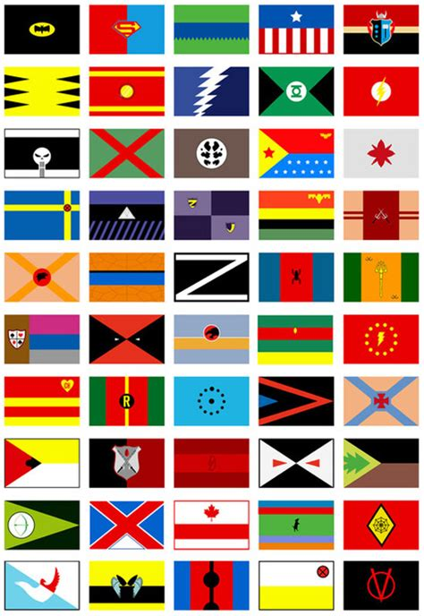 Flags Of The World Print Out | 50 superhero costumes reinterpreted as world flags