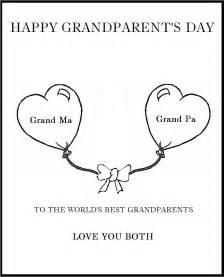 grandparents day template grandparent s day coloring part 2