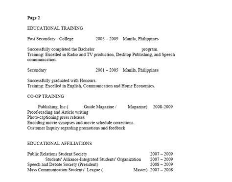 canadian resume format template canada vs philippines how to make a resume