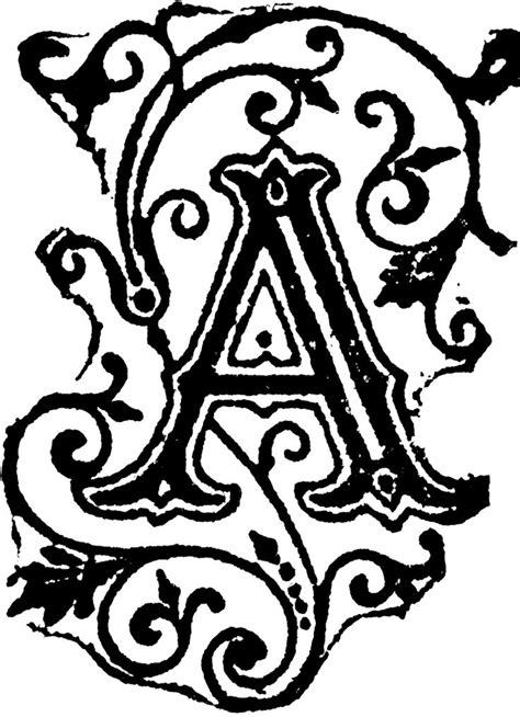 fancy tattoos designs fancy letter a designs clipart best