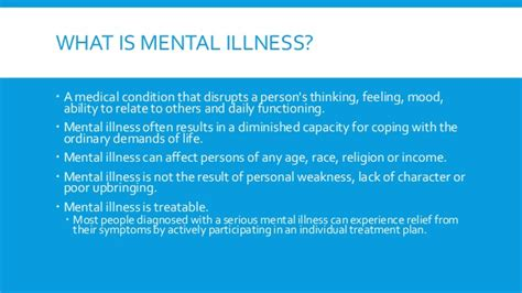 what is therapy in mental health do you the symptoms mental illness awareness