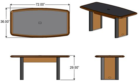 conference table size power and data connected conference table for six