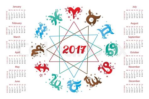 2017 chinese zodiac sign 2017 new year calendar horoscope circle with zodiac sign