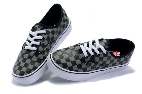 Vans Checkerboard Original black grey vans mens classics checkerboard authentic shoes