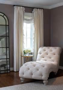 chaise lounges for bedrooms elegant bedroom features a linen tufted french chaise