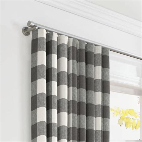 gray buffalo check curtains white gray buffalo check ripplefold curtain loom decor