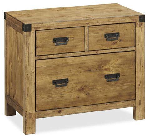 Rustic File Cabinet Lateral File Cabinet Heirloom Pine Finish Rustic Filing Cabinets By Pottery Barn