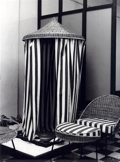 striped hut style changing room changing room cafe bar