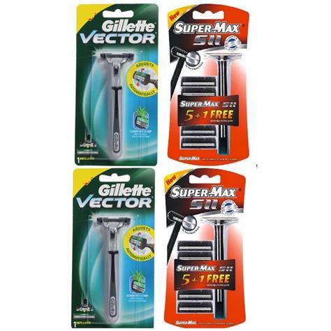 Gillette Vector 2 Cartridges 4 gillette vector supermax fits atra trac ii plus razor