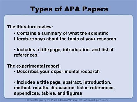 literature review format purdue