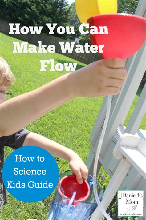 how to science kids guide how you can make water flow