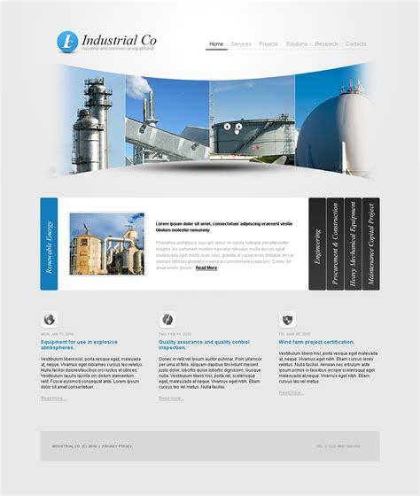 templates for industrial website industrial website template 30411