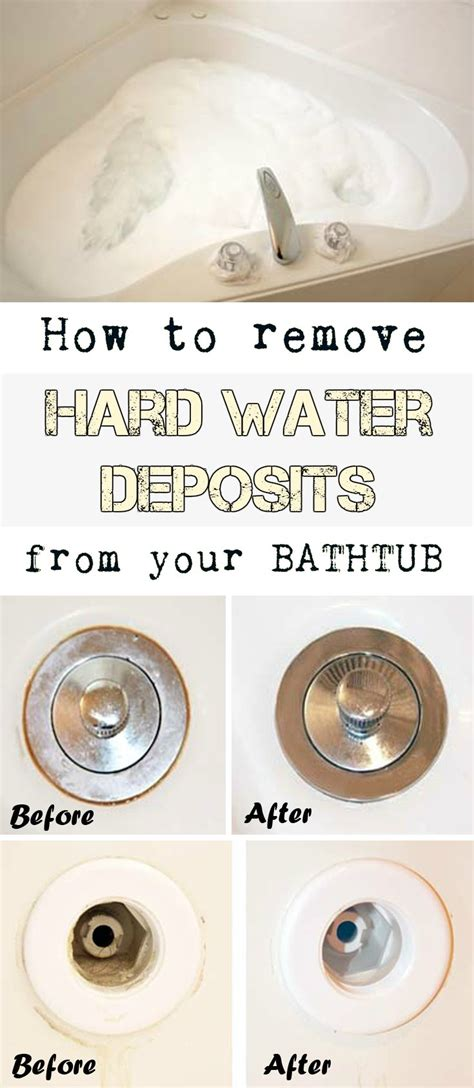 how to remove a bathtub how to remove hard water deposits from your bathtub