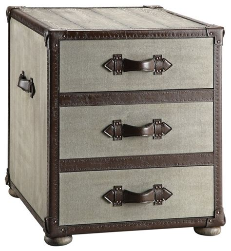 Trunk Side Table Stein World Beacon Hill Trunk End Table With 3 Drawers Contemporary Side Tables And End