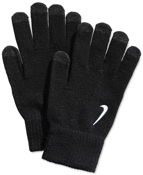 nike knit gloves lyst nike knit tech gloves in black for