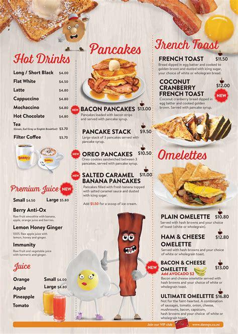 menu design nz denny s menu restaurant dining denny s new zealand