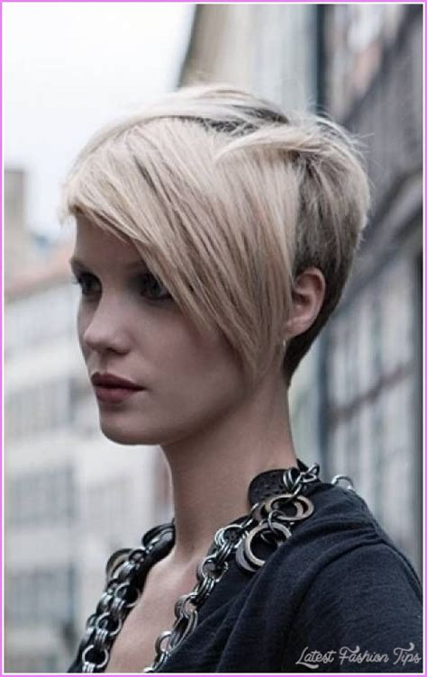 short hairstyles with 1 side longer short haircuts with longer sides latestfashiontips com