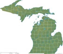 Michigan On A Map by Map Of Michigan