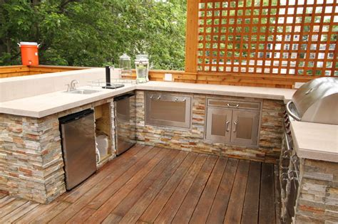 exterior kitchen outdoor kitchen and deck contemporary exterior chicago by emery custom homes