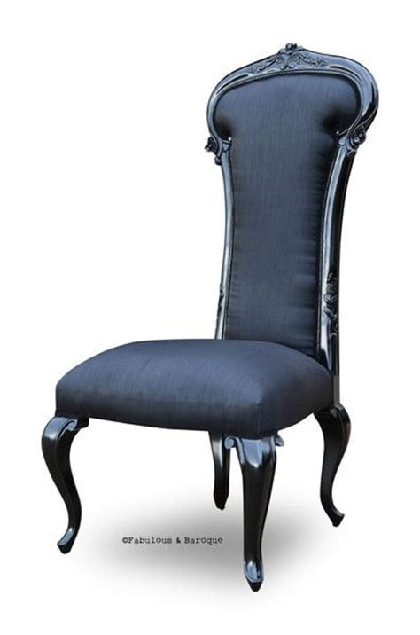 black silk modern baroque and chairs on pinterest