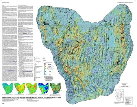 great basin usa map geothermal potential map of the great basin western