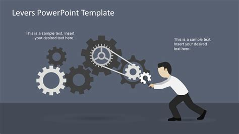 powerpoint template gears and wrenches over yellow free levers powerpoint template slidemodel