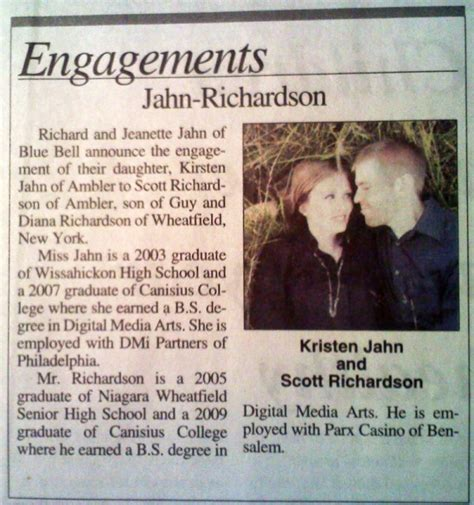 Wedding Announcement Write Up by Kirsten S Wedding We Re Getting Married Page 2