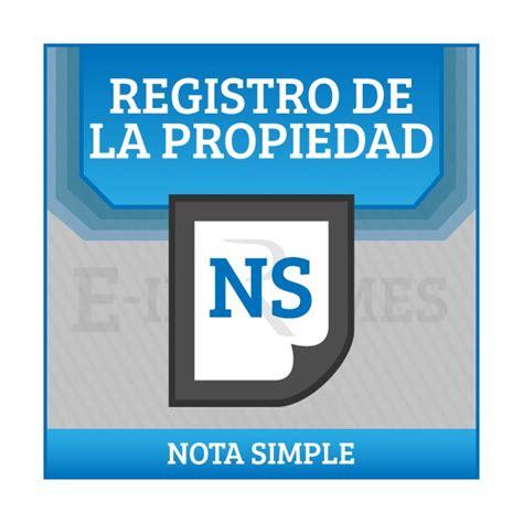 registro bienes muebles de barcelona solicitud informe registro de bienes muebles nota