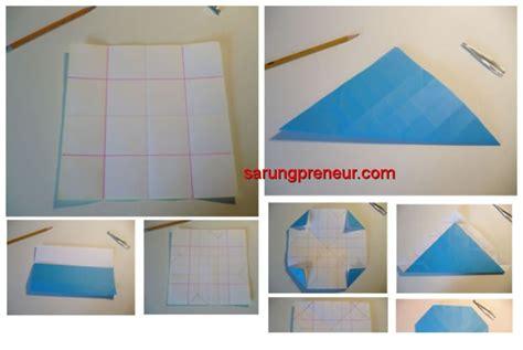 Origami Mawar - cara membuat origami bunga mawar sarungpreneur
