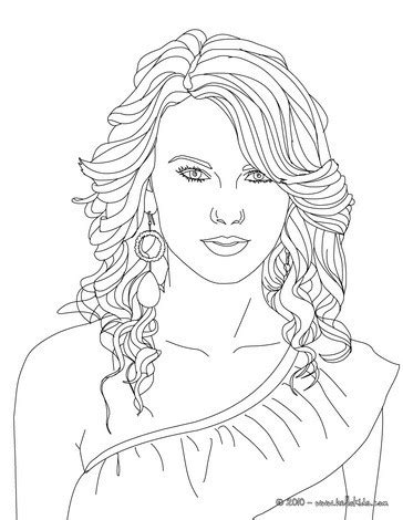 taylor swift coloring pages easy taylor swift coloring pages hellokids com