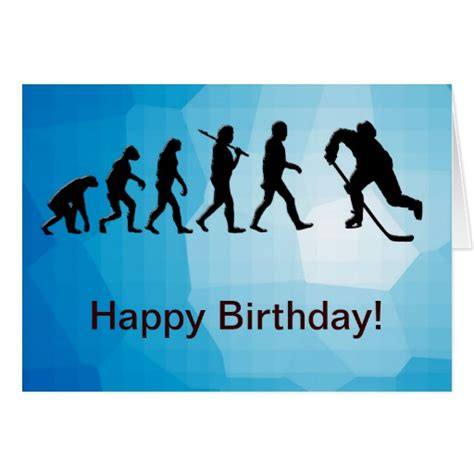 printable birthday cards hockey hockey happy birthday card zazzle