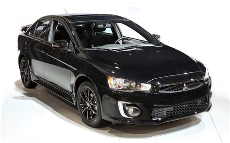 mitsubishi evo 2016 black 2017 mitsubishi lancer and rvr offered in black edition
