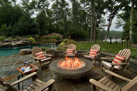 gas pit with adirondack chairs diy propane pit patio traditional with adirondack