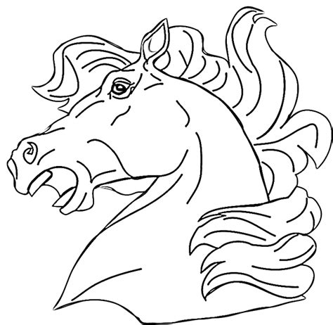 coloring pictures of horses heads coloring pages coloring home