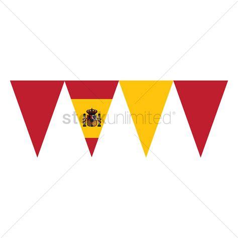 Printable Spanish Flag Bunting | spain flag buntings vector image 1565301 stockunlimited