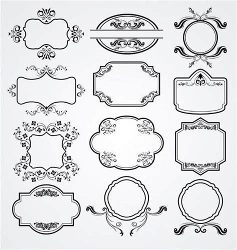 label design eps vintage floral ornament label vector pack 123freevectors