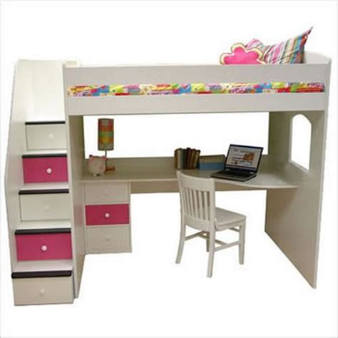Loft Bed With Desk Diy Pinterest Bunk Beds With Loft Bunk Beds With Desk And Drawers